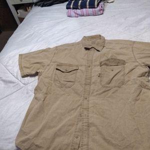 Tan faded Glory extra large dress shirt